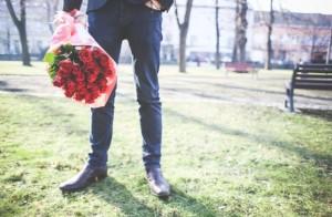 Man gift flower