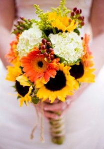 bunga pernikahan musim panas