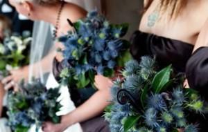 bunga buket blue thistle