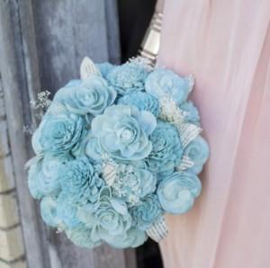 buket bunga pernikahan satu warna
