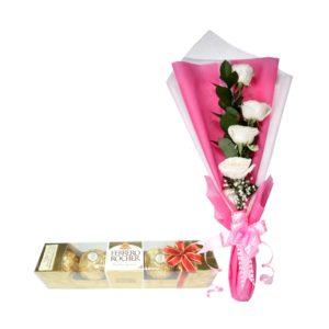 buket bunga dan coklat