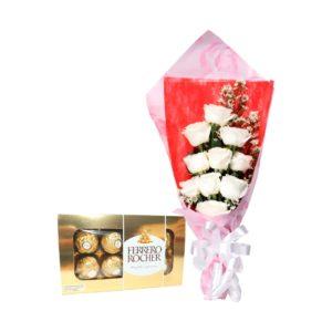 jual rangkaian buket bunga dan coklat