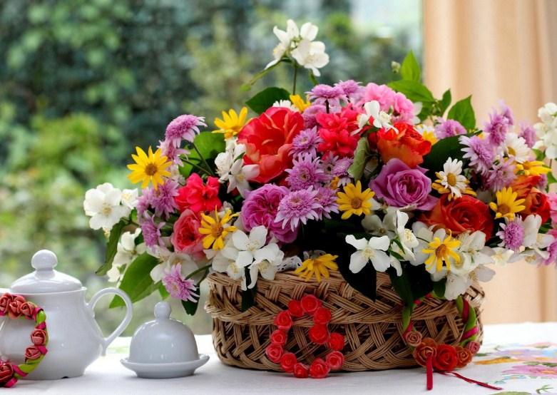 hadiah rangkaian bunga