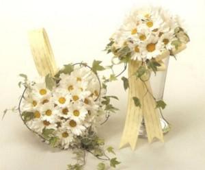 rangkaian buket bunga daisy