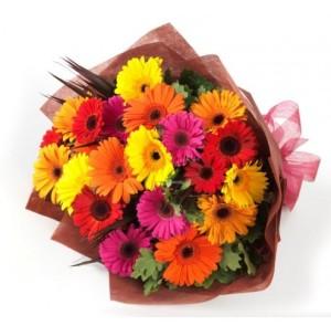 rangkaian buket bunga gerbera