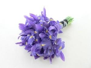 rangkaian buket bunga iris