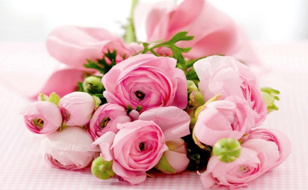 BUket bunga mawar pink
