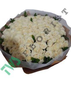 buket bunga mawar putih valentine