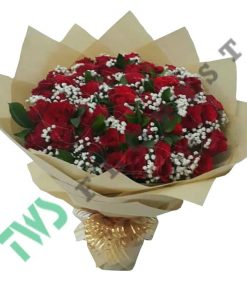 buket bunga mawar merah valentine