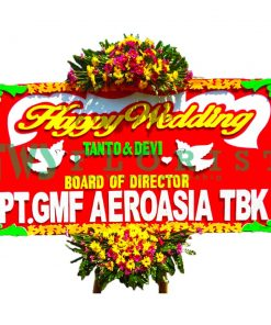 Bunga Papan Happy Wedding USJB 02