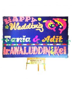 bunga papan happy wedding USA 03